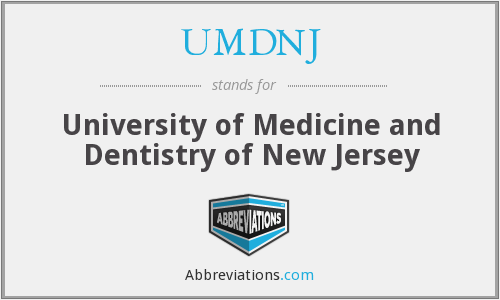 What does UMDNJ stand for?