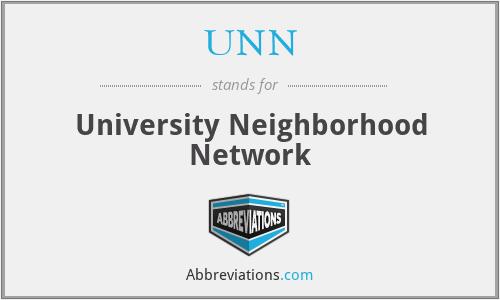 UNN - University Neighborhood Network