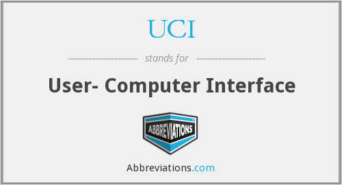UCI - User- Computer Interface