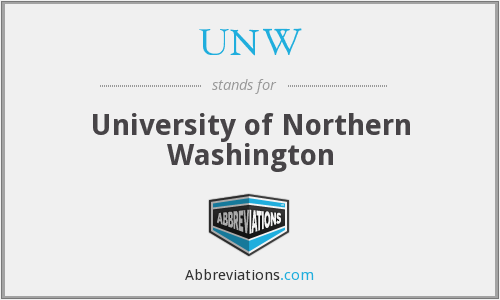 UNW - University of Northern Washington