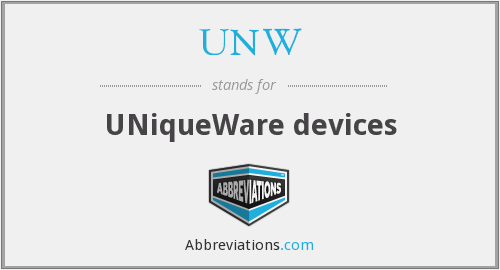 UNW - UNiqueWare devices