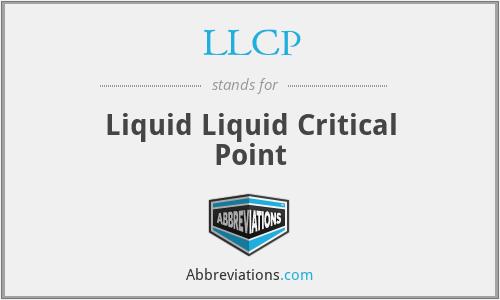 LLCP - Liquid Liquid Critical Point
