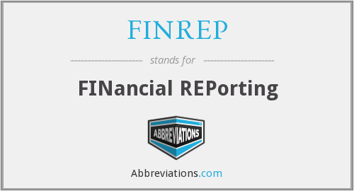 What does FINREP stand for?