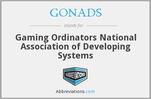 What does GONADS stand for?