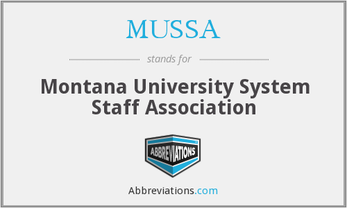 What does MUSSA stand for?
