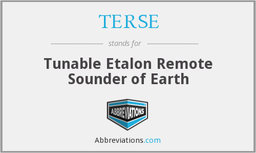 What does TERSE stand for?