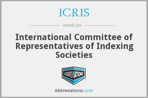 ICRIS - International Committee of Representatives of Indexing Societies
