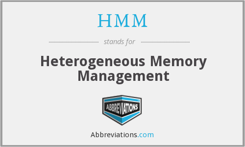 HMM - Heterogeneous Memory Management