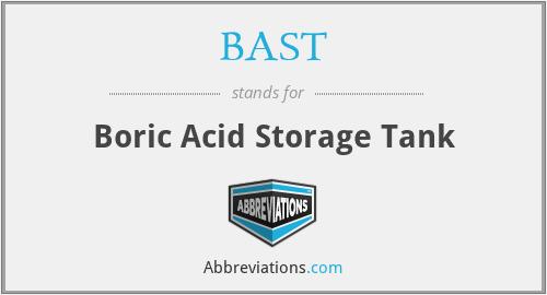 BAST - Boric Acid Storage Tank