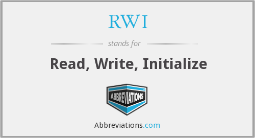 What does initialize stand for?