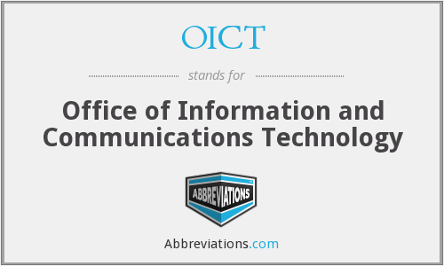 OICT - Office of Information and Communications Technology