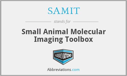SAMIT - Small Animal Molecular Imaging Toolbox