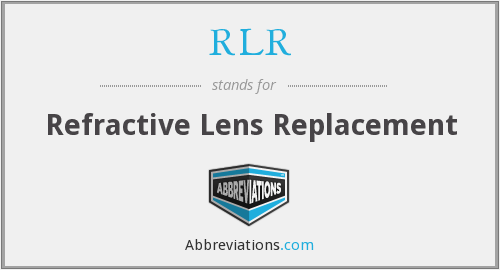RLR - Refractive Lens Replacement