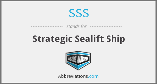 SSS - Strategic Sealift Ship