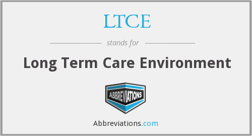 What does LTCE stand for?
