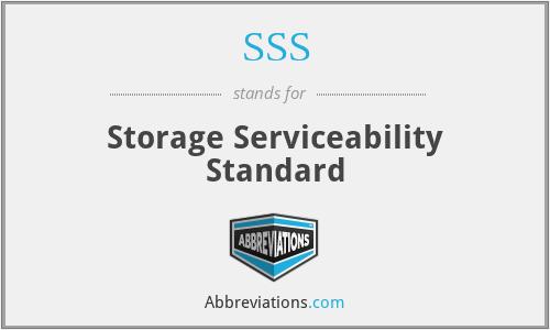 SSS - Storage Serviceability Standard