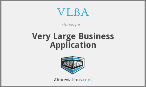 What does VLBA stand for?