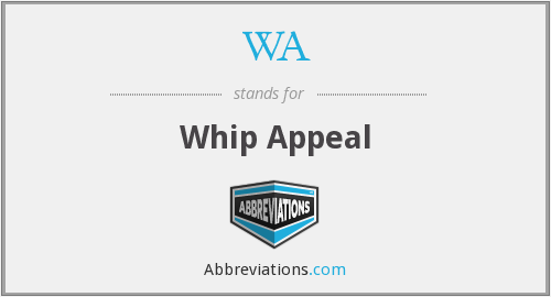 WA - Whip Appeal