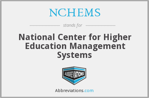 What does NCHEMS stand for?