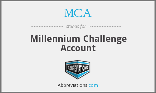 MCA - Millennium Challenge Account