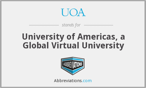 UOA - University of Americas, a Global Virtual University