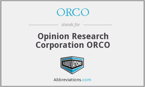 What does ORCO stand for?