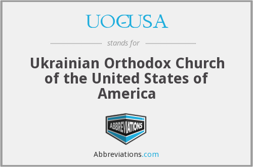 UOC-USA - Ukrainian Orthodox Church of the United States of America