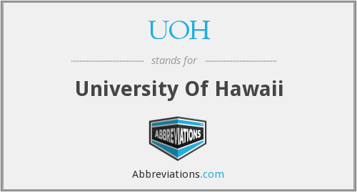 What does UOH stand for?