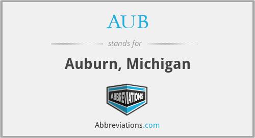 AUB - Auburn, Michigan