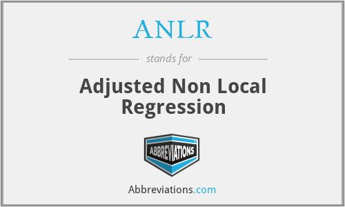 ANLR - Adjusted Non Local Regression