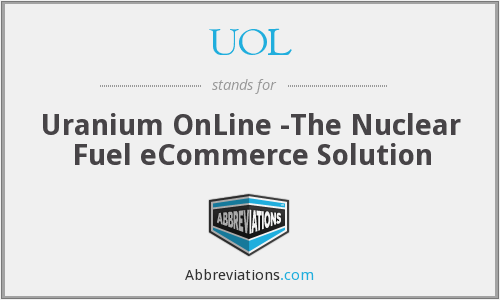 UOL - Uranium OnLine -The Nuclear Fuel eCommerce Solution