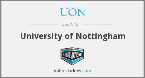 UON - University of Nottingham