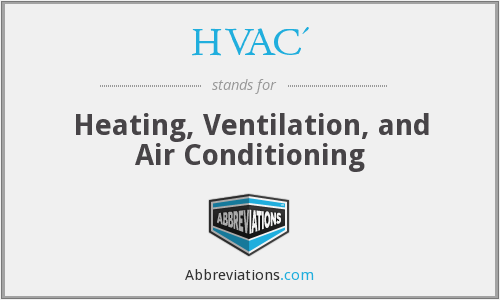 What does HVAC' stand for?