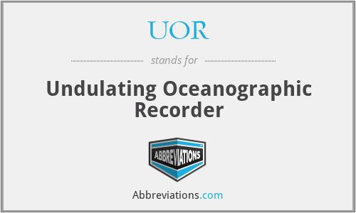 UOR - Undulating Oceanographic Recorder