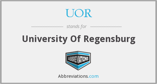 UOR - University Of Regensburg