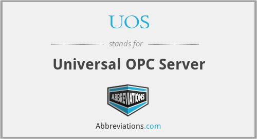 UOS - Universal OPC Server