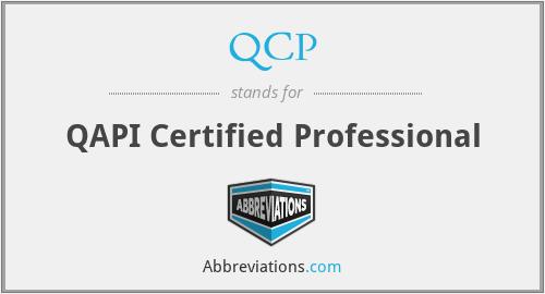 QCP - QAPI Certified Professional