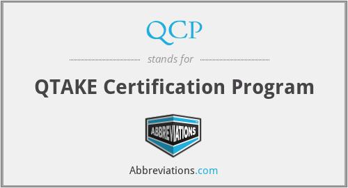 QCP - QTAKE Certification Program