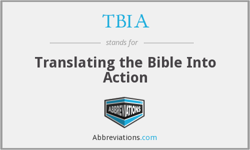 TBIA - Translating the Bible Into Action