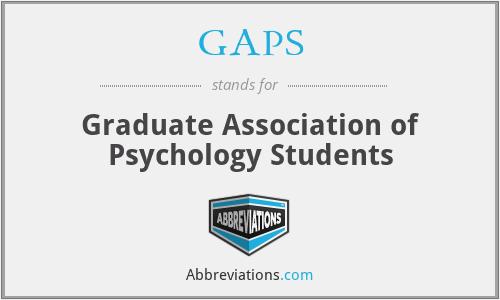 GAPS - Graduate Association of Psychology Students