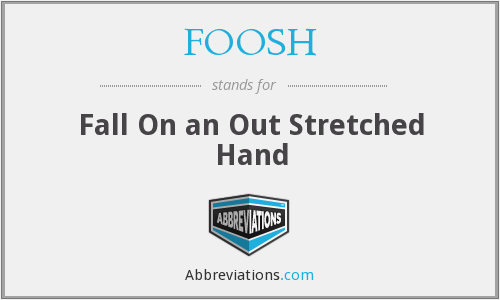 FOOSH - Fall On an Out Stretched Hand