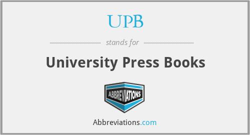 UPB - University Press Books