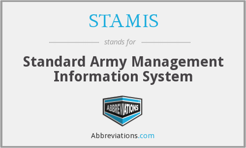 What does STAMIS stand for?