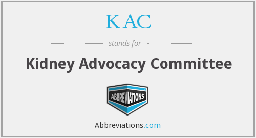 KAC - Kidney Advocacy Committee