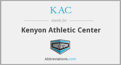 KAC - Kenyon Athletic Center