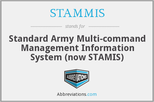 What does STAMMIS stand for?