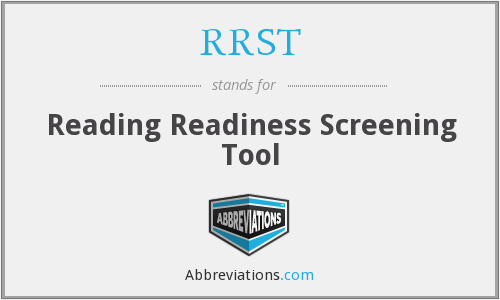 RRST - Reading Readiness Screening Tool
