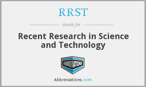 RRST - Recent Research in Science and Technology