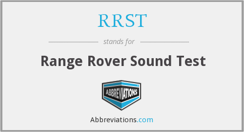RRST - Range Rover Sound Test