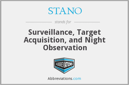 What does STANO stand for?